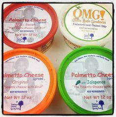 Palmetto Cheese - The Pimento Cheese with Soul! and OMG! Onion Made Goodness Caramelized Onion Dip.