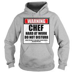 Warning Chef Hard At Work Do Not Disturb - Mens Premium T-Shirt