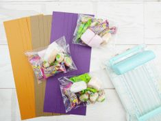 DIY Halloween Treat Bags by Soraya Maes for We R Memory Keepers featuring the Fringe and Score Board Halloween Treat Bags, Diy Halloween, Balloons And More, Witch Broom, We R Memory Keepers, Diy Party, Twine, Make Your Own, Punch