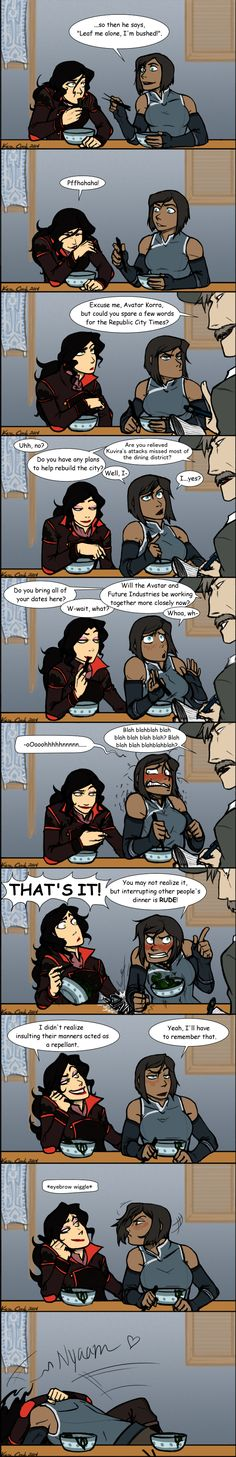 ~KORRASAMI~ Date Night by RegentShaw.deviantart.com This one's pretty funny.