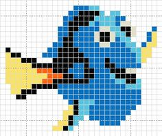 Luvs 2 Knit: Dory hama perler beads pattern                                                                                                                                                                                 Plus