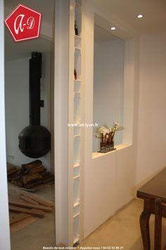IPN en acier : pose sous poutrelle porteuse peint à l'expoxy pour décorer