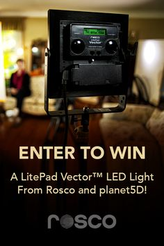 @RoscoLabs is giving away a #LitePad Vector LED light! Enter to win one of these versatile, durable fixtures that provides soft, flattering light for #filmmakers. #filmmaking #setlighting #FilmmakerGiveaway