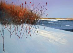 Landscape Paintings by David Lidbetter Painting Snow, Winter Painting, Winter Art, Watercolor Landscape, Abstract Landscape, Landscape Paintings, Traditional Landscape, Contemporary Landscape, Snow Scenes