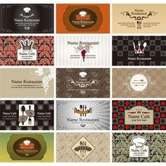 15 Restaurant Cafe Business Card Templates - http://www.dawnbrushes.com/15-restaurant-cafe-business-card-templates/