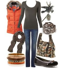 orange & brown, created by lagu.polyvore.com