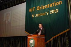 Prof. Said Irandoust, President, AIT at Orientation Day ).