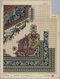 Patroontekening van een tapijt uit 1900   Renssen, M.D. (1883-1971) - Europeana
