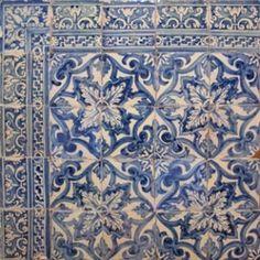 Through The Ice — Century Portuguese tile Tile Murals, Tile Art, Wall Tiles, Mosaic Tiles, Victorian Tiles, Antique Tiles, Blue And White China, Blue China, Tile Patterns