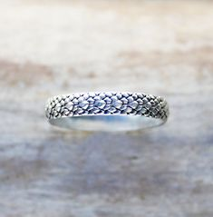 Silver Ring sterling silver snake ring dragon by ElisabethSpace