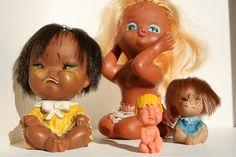 Retro huilende popjes