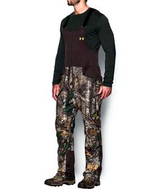 39d223a7ae667 MENS UNDER ARMOUR UA STEALTH FLECE BIB HUNTING CAMO OVERALL PANTS 1291442  2XL #UnderArmour Hunting