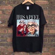 IRIS APFEL T-SHIRT  #irisapfel #tshirt #blacktee #retro #90s #homagetees #vintage #kwaleo