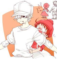 Cells at work! Otaku Anime, Manga Anime, Moe Manga, Me Anime, Anime Love, Chibi, Desenhos Love, White Blood Cells, Anime Version
