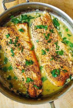13 Healthy Fish Recipes That Are Packed With Flavor 13 gesunde Fischrezepte mit viel Geschmack Trout Recipes, Easy Fish Recipes, Salmon Recipes, Seafood Recipes, Healthy Recipes, Free Recipes, Walleye Recipes, Healthy Soup, Fish Recipes Healthy Tilapia
