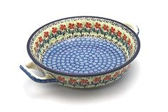Polish Pottery Baker - Round with Handles - Medium - Maraschino >>> Check out this great image @ : bakeware