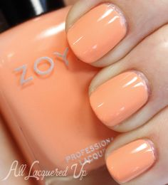 Zoya: ⭐  Cole ⭐  ... from Spring 2014 Awaken collection ... a peachy creme ... pretty shade but apparently has application issues,  see article