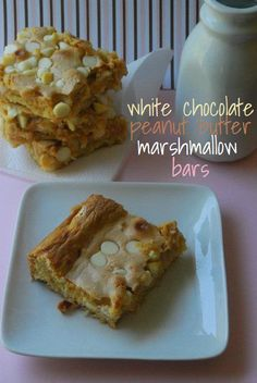 White Chocolate Peanut Butter Marshmallow Bars | The Domestic Rebel