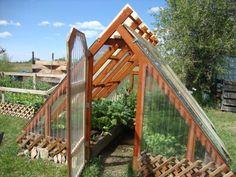 Off Gird, Simple, Efficient Cabin, Teton views! Porch Garden, Diy Porch, Garden Beds, Diy Greenhouse Plans, Greenhouse Gardening, Backyard Projects, Garden Projects, Garden Room Extensions, Garden Landscape Design