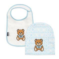 bbd6bf2c59c2 Baby Boys Hat   Bib Gift Set - Blue by Moschino