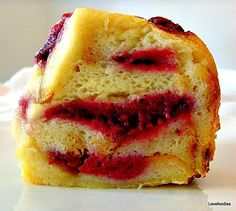 Fluffy Raspberry Ripple Bread & Butter Pudding - Lovefoodies