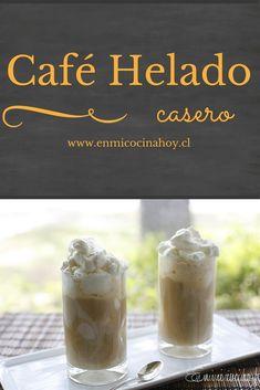 El café helado es la bebida tradicional para las tardes de verano en Chile. #cafehelado Summer Desserts, Summer Drinks, Coffee Express, Chocolates, Chilean Recipes, Chilean Food, R Cafe, Ice Cream Party, English Food