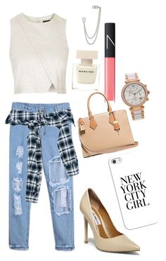 """""""New york city girl"""" by chicabionica ❤ liked on Polyvore featuring Faith Connexion, NARS Cosmetics, Topshop, Steve Madden, Narciso Rodriguez, Casetify, French Connection and Michael Kors"""