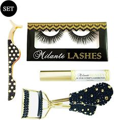 $54 Milanté CHAOTIC MINK FALSE LASHES,  APPLICATOR, CURLER AND GLUE.  SELECT ANY LASH STYLE IN OUR COLLECTION WITH THIS SET.