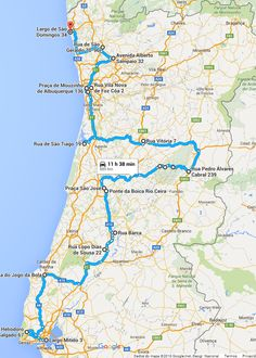 SEIA Portugal Route I Traditional Winter Castles - Portugal map distances