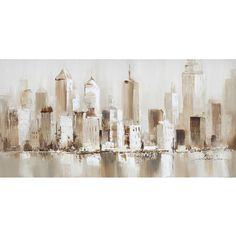 Veronneau.com - Hand made painting city 55x27,6'', L0301, $189.89