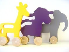 Juguetes para niños de madera reciclada