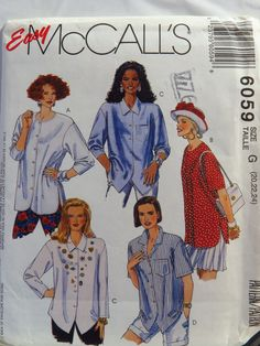 McCall's 6059 Misses' Shirts