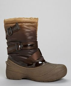 Take a look at this Brown Florence Strap Boot by PINKY FOOTWEAR on #zulily today!