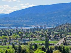 Downtown from Dilworth Mountain Desert Climate, Selling Real Estate, British Columbia, Golf Courses, Babe, Mountain, Canada, River, World