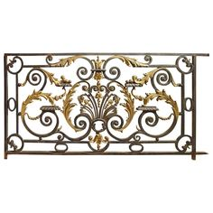 Antique Balcony Gate from a Normandy Castle, 1800s 1