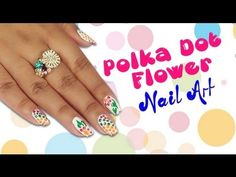 Polka Dot Flower Nail Art Tutorial For Beginners!!!!! If you are in a search of some easy, pretty and quick-to-do nail art designs, then this polka dot flower nail art tutorial is for you. This step-by-step guide is going to help you try this attractive design on your nails in a simple way. So have a look!  Visit for buy Nail Art kit:- http://khoobsurati.com/make-up/nail-art  Visit for nail art tutorial:- http://www.youtube.com/watch?v=tabTNC7JkRQ