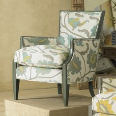 Sam Moore Nadia Exposed Wood Chair - Breeze - Accent Chairs at Hayneedle