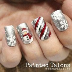 Cable Knit Nails The Latest Trend This Season – Stylendesigns 21 Fabulous and Easy Christmas Nail Designs: Fashionable Silver Nail Design for Christmas Related posts:Christmas Nail Art Designs To Look Trendy This Season. Silver Nail Designs, Fingernail Designs, Christmas Nail Art Designs, Holiday Nail Art, Winter Nail Art, Cute Nail Designs, Christmas Ideas, Christmas Design, Nail Art For Christmas