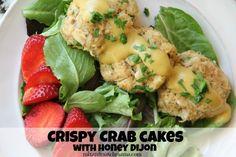 Crispy Crab Cakes with Honey Dijon