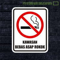 WSKPC025 Sticker Safety Sign Warning Sign Kawasan