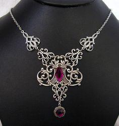Gothic RENAISSANCE Medieval Elf ELVEN VICTORIAN Necklace Choker Princess Queen #Handmade