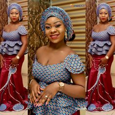 Beautiful Ankara Aso Ebi collection To Wow This Season. The African fashion style is unique and anyo. African Blouses, African Lace Dresses, African Dresses For Women, African Attire, African Wear, African Style, African Outfits, African Skirt, African Tops