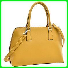 Dasein Buffalo Faux Leather Zip-Around Handbag (Tan) - Top handle bags (*Amazon Partner-Link)