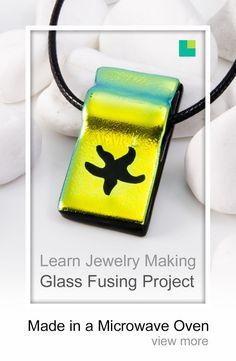 Dichroic fused glass pendant, yellow blue green dichroic with black base fused in a microwave kiln Fused Glass Jewelry, Glass Pendants, Glass Fusing Projects, Metal Embossing, Crushed Glass, Diy Jewelry Making, Bottle Art, Making Ideas, Glass Art