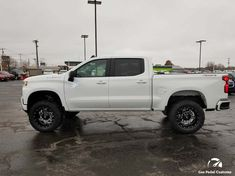 2019 Chevy Silverado with Pro Comp suspension, Fuel Offroad ROCKER wheels, and Fuel Gripper M/T tires. Gas Pedal Customs - Automotive customizing in Ada, MI Vintage Chevy Trucks, Chevy Diesel Trucks, Lifted Chevy Trucks, Gm Trucks, Chevrolet Trucks, Pickup Trucks, Dually Trucks, 1957 Chevrolet, Chevrolet Impala