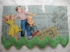 """Let's Play Bingo"" rolo (back) Flip Photo, Birthday Reminder, Art Trading Cards, Artist Card, Rolodex, Index Cards, Small Art, Art Pages, Junk Journal"