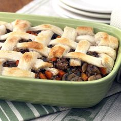 Brimming with chopped zucchini, carrot, and mushrooms, this meat-lover& potpie packs in a hearty serving of vegetables. Beef Pot Pies, Vegetable Pot Pies, Baby Food Recipes, Cooking Recipes, Toddler Recipes, Meal Recipes, Healthy Recipes, How To Cook Beef, Recipe Finder