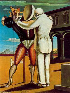 Le retour du fils prodigue, huile de Giorgio De Chirico (1888-1978, Greece)