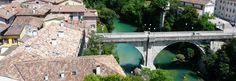 """Brücke """"Ponte del Diavolo"""" - Cividale.COM Garden Bridge, Outdoor Structures, Italy"""