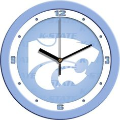 New - Kansas State Wildcats-Baby Blue Wall Clock